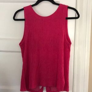 Hot pink Button Back Tank